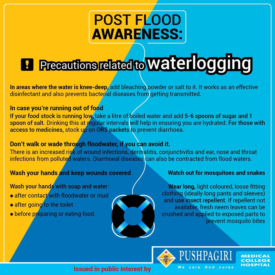 Precuations related to waterlogging